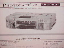 1968 1969 DODGE CHARGER SE R/T DART GT CORONET SUPER BEE AM RADIO SERVICE MANUAL