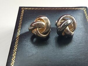 Vintage 925 solid Silver thick knotted stud Earrings