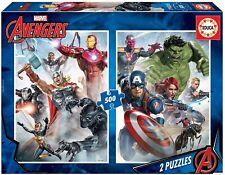 Puzzle de Superheroes Marvel Avengers 2 puzzles de 500 piezas EDUCA