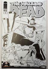 WALKING DEAD #1 Austin 2013 SKETCH b&w Wizard World Comic Con Exclusive Variant