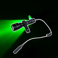 New Green Light LED Hog Night Hunting Flashlight For Rifle W/Scope Mount