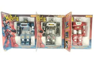 Voltron Albegas Gladiators II 1983 Blue, Red & Black W/ Boxes & Instructions!