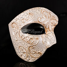 Phantom of the Opera - Black Lining Venetian Masquerade Mask with Cracks