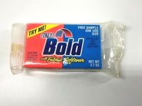 Vtg Ultra Bold Detergent With Fabric Softener Sample Box Unopened Laundry 1991