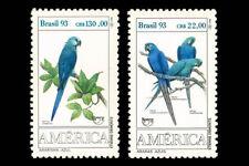 Birds   Parrots UPAEP Brazil 1993 Mi 2548-49 Sn 2423-24 Yt 2136-37 RHM 1865-66