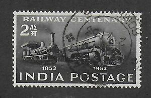 India, 1953, 2 as black, SG 343, Sc 243, used.