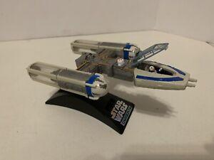 STAR WARS ACTION FLEET BLUE  LEADER Y-WING FIGHTER SQUADRON Complete R2 VARIANT
