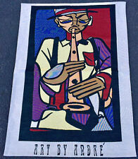 Art by Andre Saraiva Jazz Player Tapestry Wall Hanging