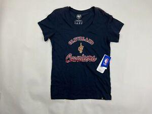 '47 NBA Cleveland Cavaliers Women's Short Sleeve V-Neck Fall Navy Medium