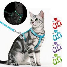 Reflektierend Katzengeschirr Mit Leine & Personalisierte HUNDEMARKEN Nylon Rot