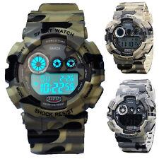Men's Sport LED Digital Army Military Date Analog Quartz Camouflage Wrist Watch
