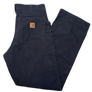 Carhartt B151 BLK Men's 32x32 Original Dungaree Fit Black Carpenter Cotton Pant