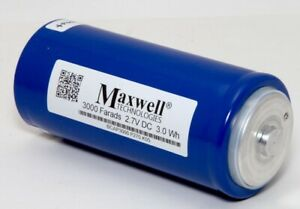 Maxwell Technologies Ultra Capacitor 3000 Farads 2.7V DC 3.0Wh BCAP3000 P270 K05