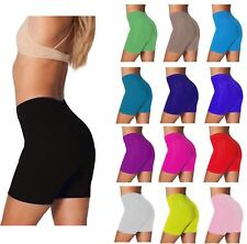 LADIES CYCLING COTTON STRETCHY LYCRA SHORT ACTIVE CASUAL SPORTS WOMEN'S LEGGINGS