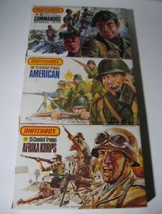 Matchbox Combat Troops WWII soldiers  1:32 American, Afrika, British  15 per Box