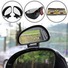 A Pair Interior Rear View Car Mirror Stick Adjustable Blind Spot Wide Angle Lens