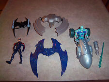 DC Batman Iceboard Robin + 3 Batwings & Mr. Feeze + Street Chill Dragster - Used