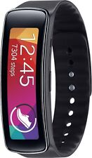 Samsung Galaxy Gear Fit w/ Black Plastic Case Charcoal Black Buckle + Heart Rate