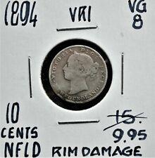 1894 Newfoundland 10 cents *Damaged