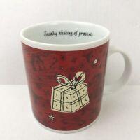 Starbucks Coffee Barista Sneaky Shaking Presents Holiday Mug Tea Cup 2000