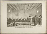 1860 - Monte Athos - Tabla De Épistates Al Grabado