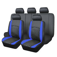 Car Seat Covers  protectors  PU Leather Universal embroidery blue 30 45 quality