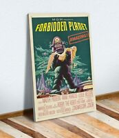 SCI FI Forbidden Planet Vintage Movie Poster CANVAS WALL ART PRINT ARTWORK