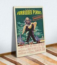 SCI FI Forbidden Planet Vintage Movie Poster CANVAS WALL ART PRINT ARTWORK