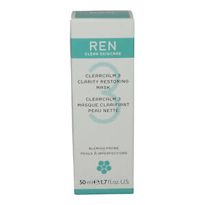 Ren • Clearcalm 3 Clarity Restoring Mask • 1.7oz • New & Sealed • AUTHENTIC