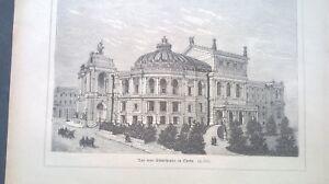 1888 cs Chronik ...Ansicht 360 / Odessa Theater Ukraine Russland