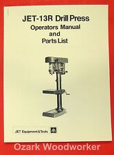 JET/Asian 13R Drill Press Owner's & Parts Manual 0798