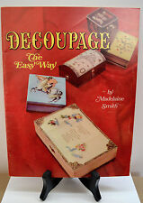 Vintage Decoupage The Easy Way Craft Booklet 1968 How to Booklet 32 Pages