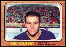 1966 67 TOPPS HOCKEY #26 ROD GILBERT VG-EX NEW YORK N Y RANGERS CARD FREE SHIP