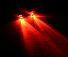 2x RED R / C BUGGY AUTO CAMION Piccoli 3mm LED luce KIT INTERRUTTORE + PP3 clip