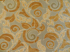 Chenille and woven (reversible) high-end upholstery material in gold and taupe
