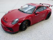 1 18 Minichamps Porsche 911 (991 Ii) Gt3 with Black Rims 2017 Red