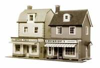 2 Country Town Shops - Superquick B22 - OO Building Card kit -