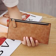Women Lady Zipper Leather Wallet Long Purse Clutch Coin Bag Card Holder Handbag