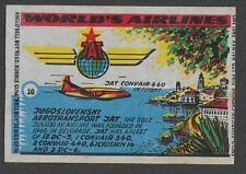 Anglo Wax Wrapper Worlds Airlines #16 Jugoslovenski Aerotransport - JAT