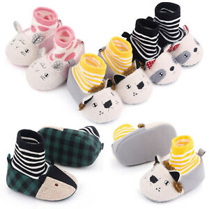 Baby Girls Boys Cartoon Animal Cotton Socks Shoes Floor Shoes Sneakers Slippers