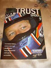 Multi firmato SHOEI Helmets catalogo, Karl Harris, Tommy Hill, Shane Byrne ecc.