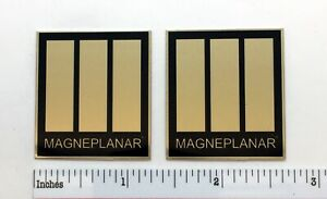 Magneplanar Square Gold Speaker Badge Logo Emblem Pair Magnepan Free Shipping