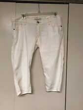Womens Abercrombie And Fitch Capri crop Pants White Size 4, NWT
