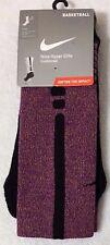 Nike Hyper Elite Basketball Crew Socks Large  8-12 Sport Purple   (6993)