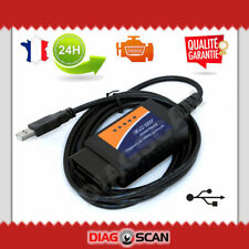 Interface diagnostic multimarque ELM327 USB V1.5 puce 25K80 chip ELM 327 OBDII