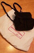 ANDREA PFISTER Vintage Black Suede Knapsack