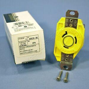 Leviton Yellow Corrosion Resistant L7-20R Locking Receptacle 20A 277V 23CM-30