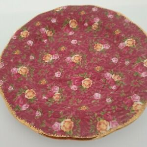 LOVELY ROYAL ALBERT OLD COUNTRY ROSES RUBY LACE 8in.PLATE