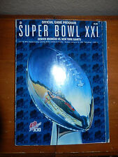 SUPER BOWL XXI Official Program for the 1/25/87 Denver Broncos V. NY Giants Game