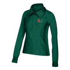 Miami Hurricanes NCAA Women's Climalite Dark Green Vertical Heather Jacket